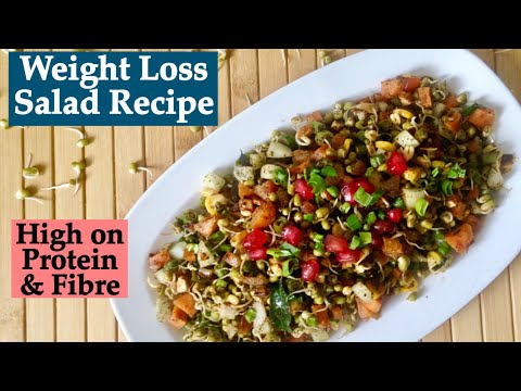 Vegetable Sprouts Salad Recipe | How to make Healthy Diet Sprouts Salad to Lose Weight