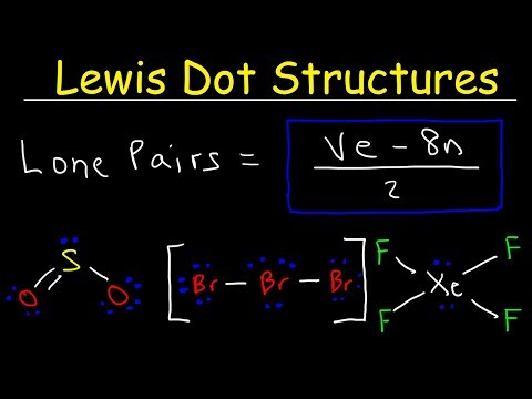 Lewis Dot Structures - How To Calculate The Number of Lone Pairs Using a Formula
