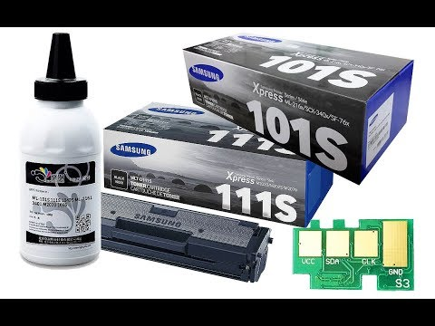 How to Refill Samsung D101S, D111S, Xerox Phaser 3020/WC3025