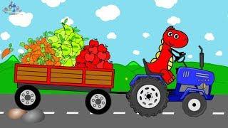 Blue Tractor T-REX Dinosaur | Jurassic Adventure on the Farm Video For Children | Przygoda na Farmie