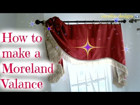 How to make a Morland valance.