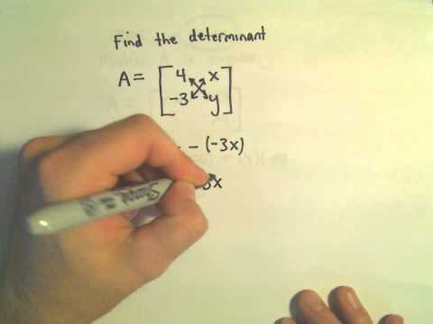 Determinant of a 2 x 2 Matrix - A Few Basic Questions