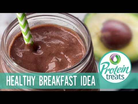 Chocolate Avocado & Chia Smoothie  - Protein Treats By Nutracelle