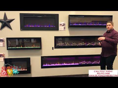 Napoleon Alluravision Slim vs  Deep Electric Fireplace Review