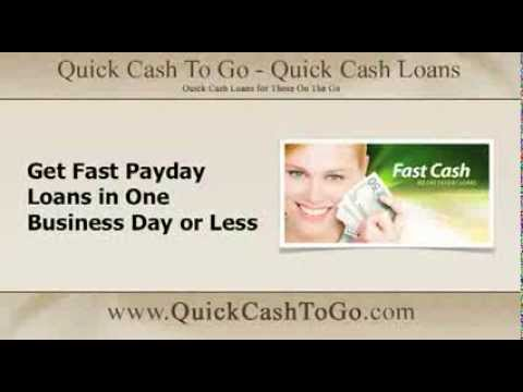 Fast Payday Loans: Get Fast Payday Loans in One Business Day or Less http://quickcashtogo.com