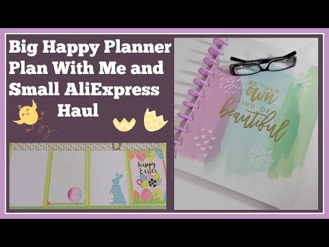 Plan With Me📒 Big Happy Planner 📒March 26 to April 1 & Small AliExpress Haul