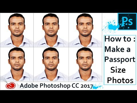 Create Passport size Photo in Adobe Photoshop CC 2017 ( One Click)