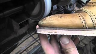 Jeffery West shoe repair - Full long leather sole www.pickupmyrepair.co.uk