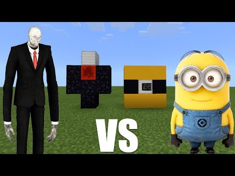 SLENDERMAN VS MINIONS in MCPE | Minecraft PE 1.2