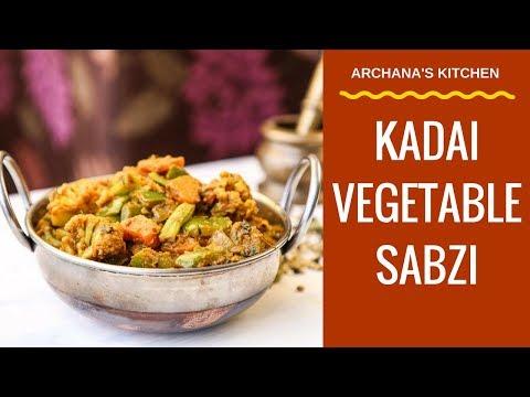 Kadai Vegetable Sabzi Recipe by Archana's Kitchen