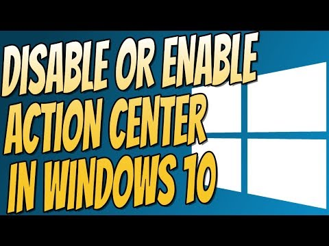 How To Disable & Enable Action Center In Windows 10 Home or Pro   Easy Windows 10 Tutorial