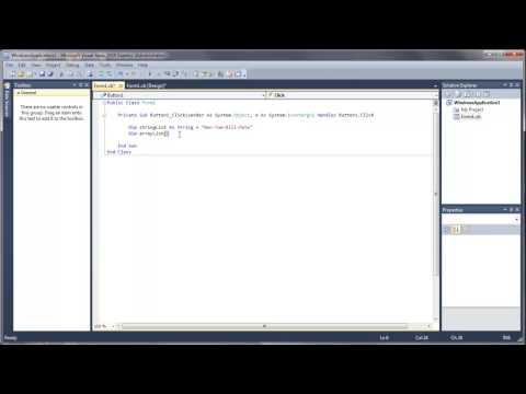 Learn Visual Basic - #39 - Splitting Strings Into Arrays