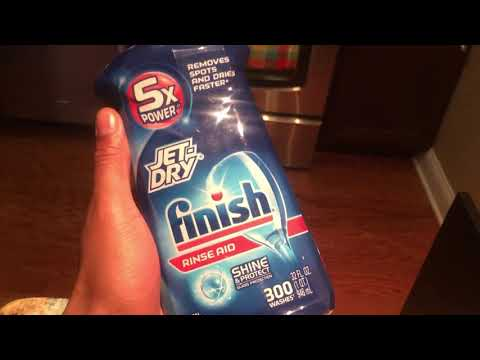 ADDING RINSE AID TO DISHWASHER - HOW TO