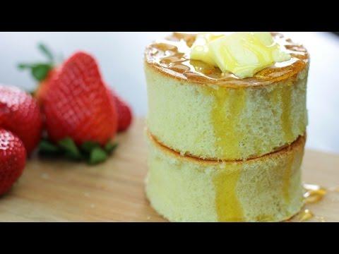 แพนเค้กญี่ปุ่น สูตรแพนเค้กหนานุ่ม japanese pancake (Thick Fluffy Pancake)