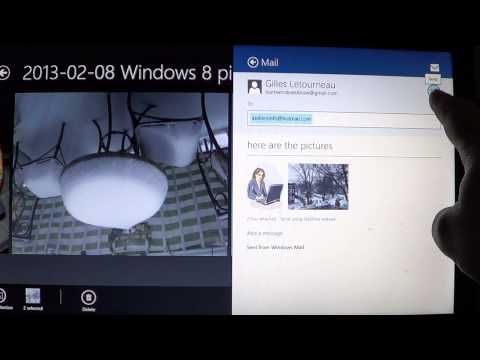 Windows 8 - Sending pictures via email