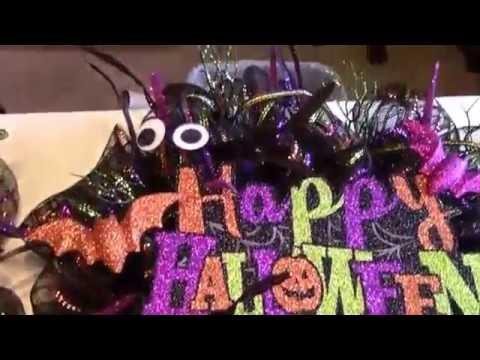 Deco Mesh Halloween Wreath Decorating Tutorial