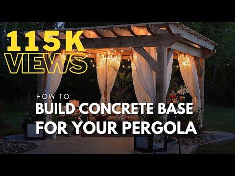 Concrete base for your Pergola