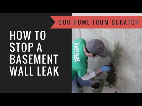 How to Stop a Basement Wall from Leaking