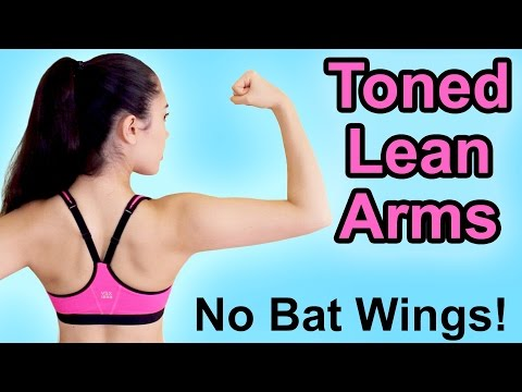 💪 6 Exercises for Sexy Toned Arms - Get Rid of Bat Wings with this Workout! 👍