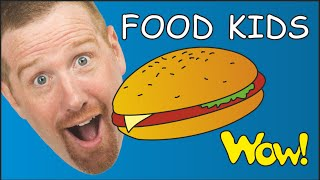 Pizza Hamburger + More Food for Kids from Steve and Maggie | Funny Cooking Story Time for Children