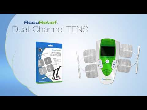 AccuRelief Dual Channel TENS Pain Relief System (Over the Counter TENS UNIT)