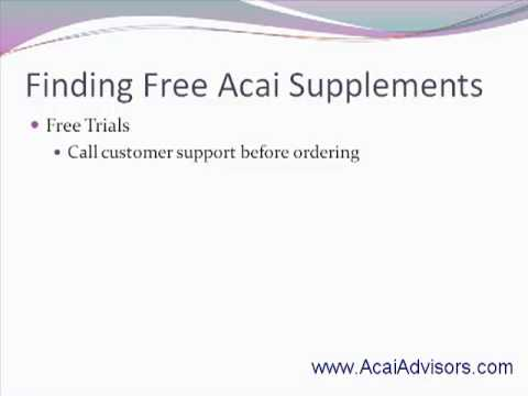 How To Get Free Acai Supplements