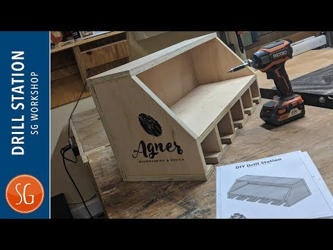 DIY Drill Charging Station | Southern Woodworkers Maker Swap 2018
