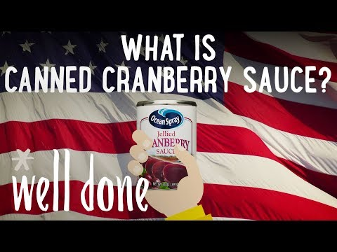 What Is Cranberry Sauce In The Can? Do You Prefer Homemade Or Canned Sauce? | Food 101 | Well Done