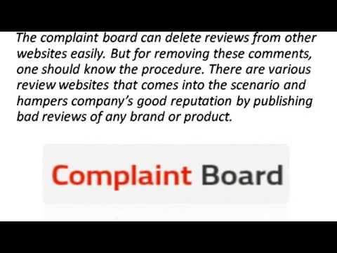Delete Complaints Board Complaints