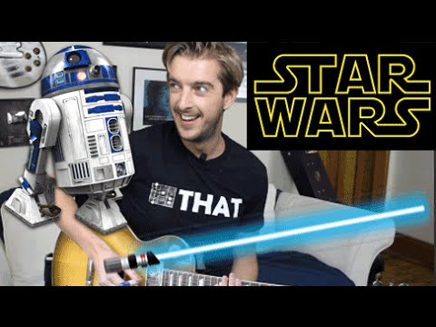 Star Wars R2D2 Lightsaber Sounds on Guitar WITHOUT FX PEDALS!!