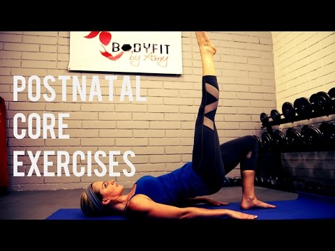 Postnatal Core Exercises for C sections or after pregnancy