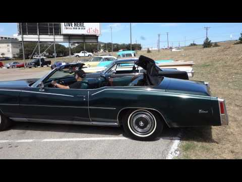 1976 cadillac eldorado convertible top and window function - green