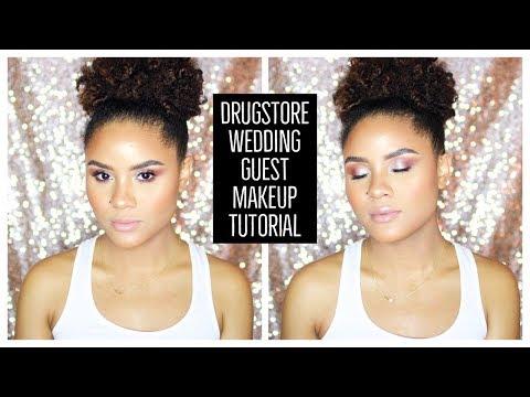 DRUGSTORE WEDDING GUEST MAKEUP TUTORIAL | CURLSFOTHEGIRLS