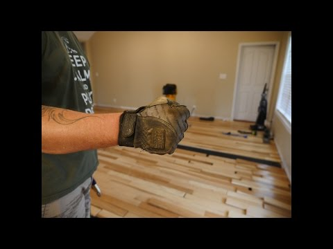 Hickory Hardwood Floor Install