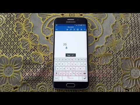 Microsoft Word For Android : How to add superscript text in Samsung Galaxy S6