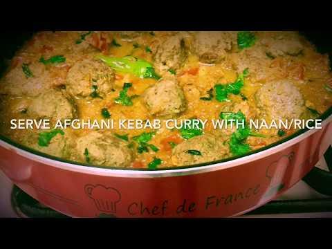 Afghani Kebab Curry Recipe / Afghani Cuisine Recipes