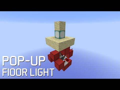 Redstone: Pop-Up Sand Floor Light [Tutorial]