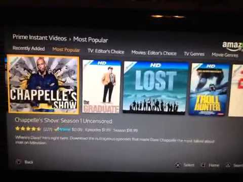 Amazon instant video on Sony Playstation 3