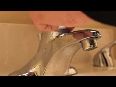 How to repair moen bathroom faucet dripping water - cartridge removal replace single lever
