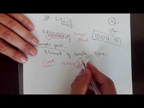 What is sample space in probability... Hindi /urdu