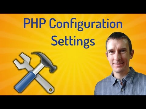 PHP configuration settings: where to find them and how to change them