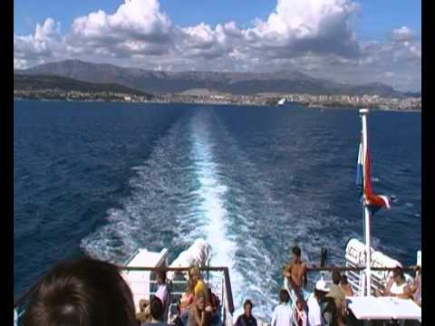 Hvar, ferry Split to Stari Grad