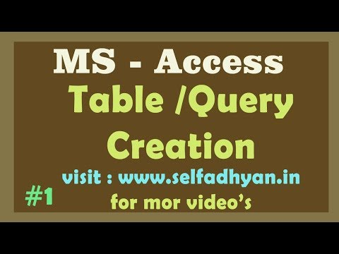 Day-1 Learn Advance MS ACCESS Tutorial: Create Table and Query Wizard Tutorial in Hindi by Manoj Sir