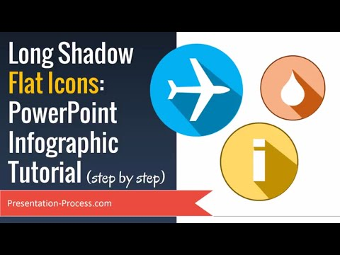 Creative Flat icons PowerPoint Infographic Tutorial