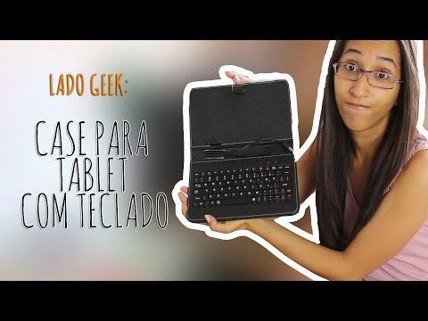 Case com teclado para tablet - Lado Geek - SamSamySam