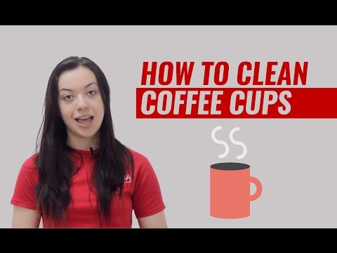 HOW TO CLEAN COFFEE CUPS - QUICK TIPS