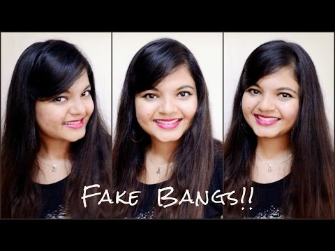 Faux Side Bangs (Fringes) | With open hair | Easy Hairstyle Tutorial | Pals Hair Vlog