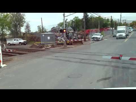 Amtrak train passing through Hartford ct
