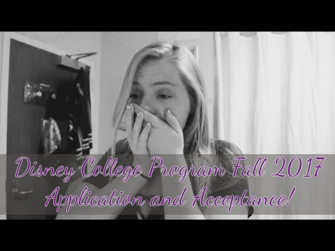 Disney College Program Fall 2017 Application and Acceptance!