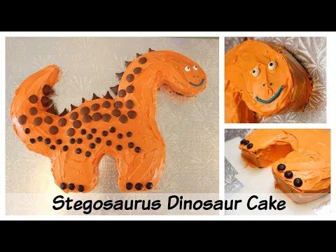 Birthday Party Ideas: Easy Stegosaurus Dinosaur Birthday Cake